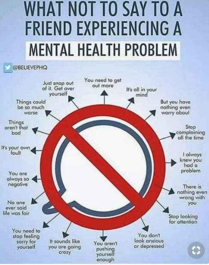 🧠अंतर्राष्ट्रीय मानसिक स्वास्थ्य दिवस - ShareChat