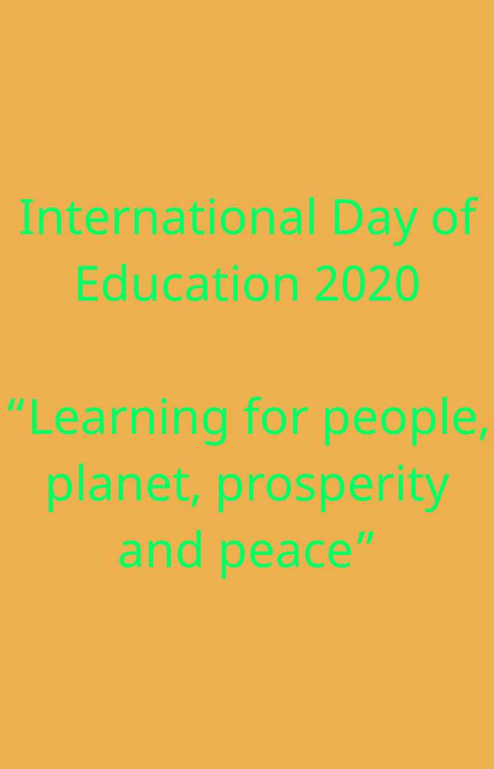 "📝अंतर्राष्ट्रीय शिक्षा दिवस😊 - International Day of Education 2020 "" Learning for people , planet , prosperity and peace - ShareChat"