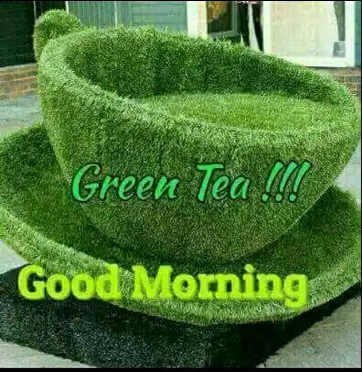 🖼 आर्ट और पेंटिंग्स - Green Tea l ! Good Morning - ShareChat