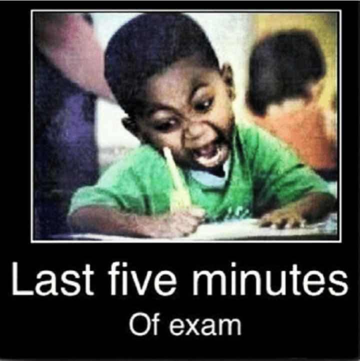 📚 एग्जाम जोक्स😂 - Last five minutes Of exam - ShareChat