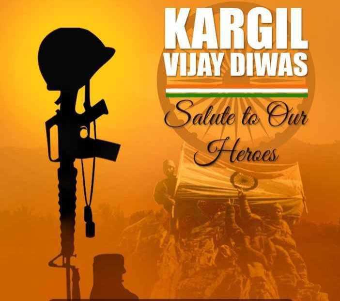 🇮🇳 कारगिल विजय दिवस - KARGIL VIJAY DIWAS Salute to Our Heroes - ShareChat
