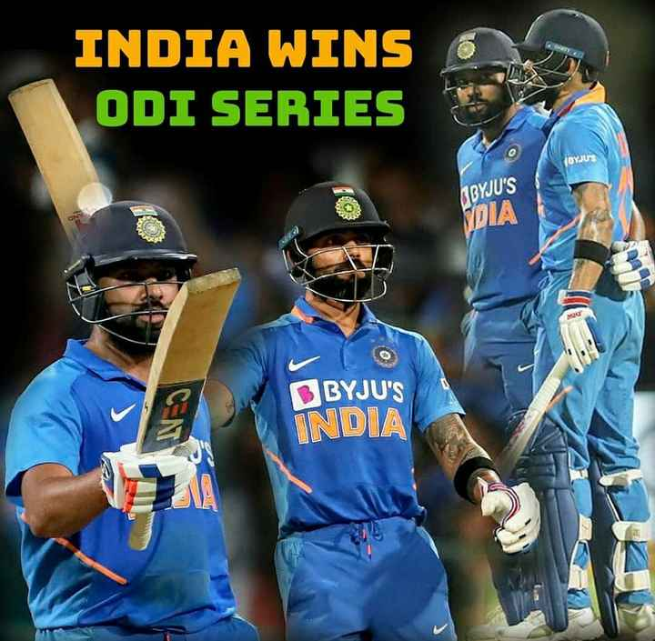 क्रिकेटप्रेमी के लिए - INDIA WINS ODI SERIES OYJUS MBYJU ' S DIA BYJU ' S INDIA - ShareChat