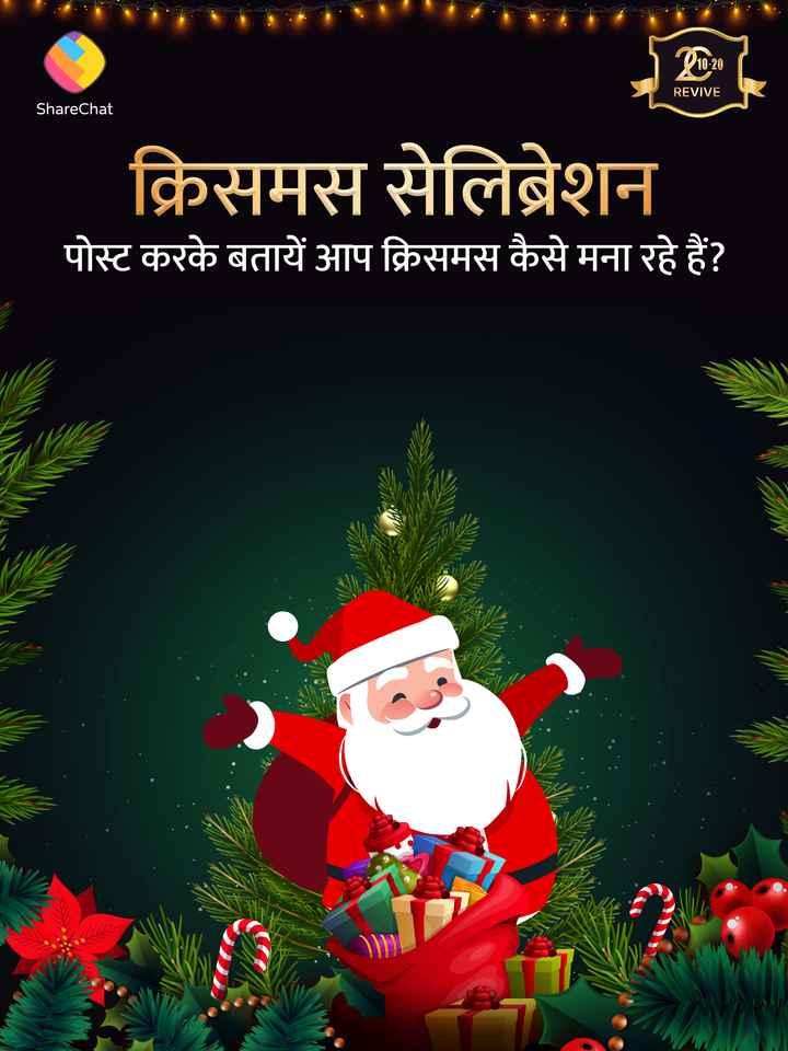 🎁क्रिसमस सेलेब्रेशन - 10 - 20 REVIVE ShareChat क्रिसमस सेलिब्रेशन पोस्ट करके बतायें आप क्रिसमस कैसे मना रहे हैं ? - ShareChat