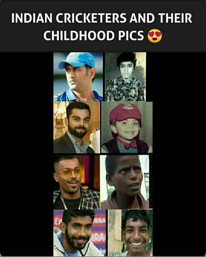 🎯 खेल जगत की खबरें - INDIAN CRICKETERS AND THEIR CHILDHOOD PICS GV - ShareChat