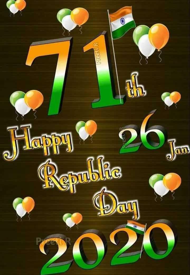 🙏गणतंत्र दिवस की शुभकामनाएं - Preeti R un an Happy 262 Rooble 2020 - ShareChat