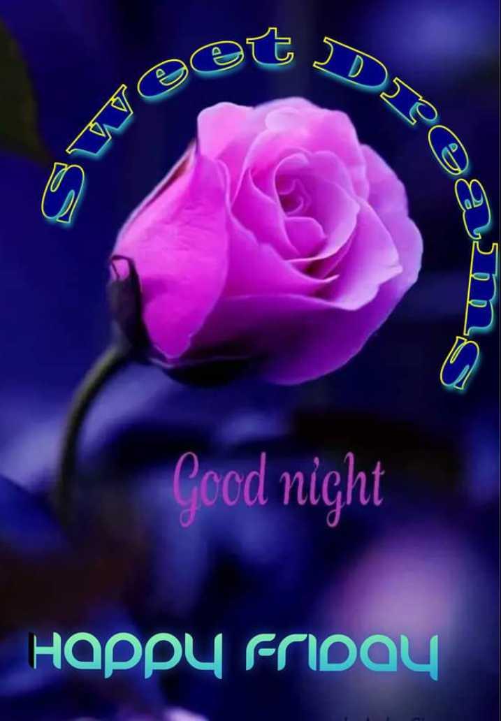 🌙 गुड नाईट - Swea Good night Happy Friday - ShareChat