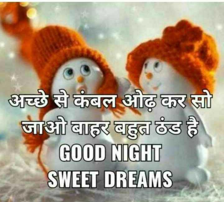 🌙 गुड नाईट - अच्छे से कंबल ओढ़ कर सो जाओ बाहर बहुत ठंड है GOOD NIGHT SWEET DREAMS - ShareChat