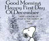 🆒 दिसंबर में स्वागत है - Good Morning Happy First Day Of December KEEP LOOKING BUTHAT S THE SECRET OF LIFE - ShareChat