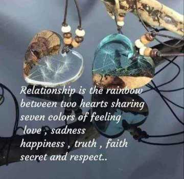 👬दोस्ती-यारी - Relationship is the rainbow between two hearts sharing seven colors of feeling love , sadness happiness , truth , faith secret and respect . . - ShareChat
