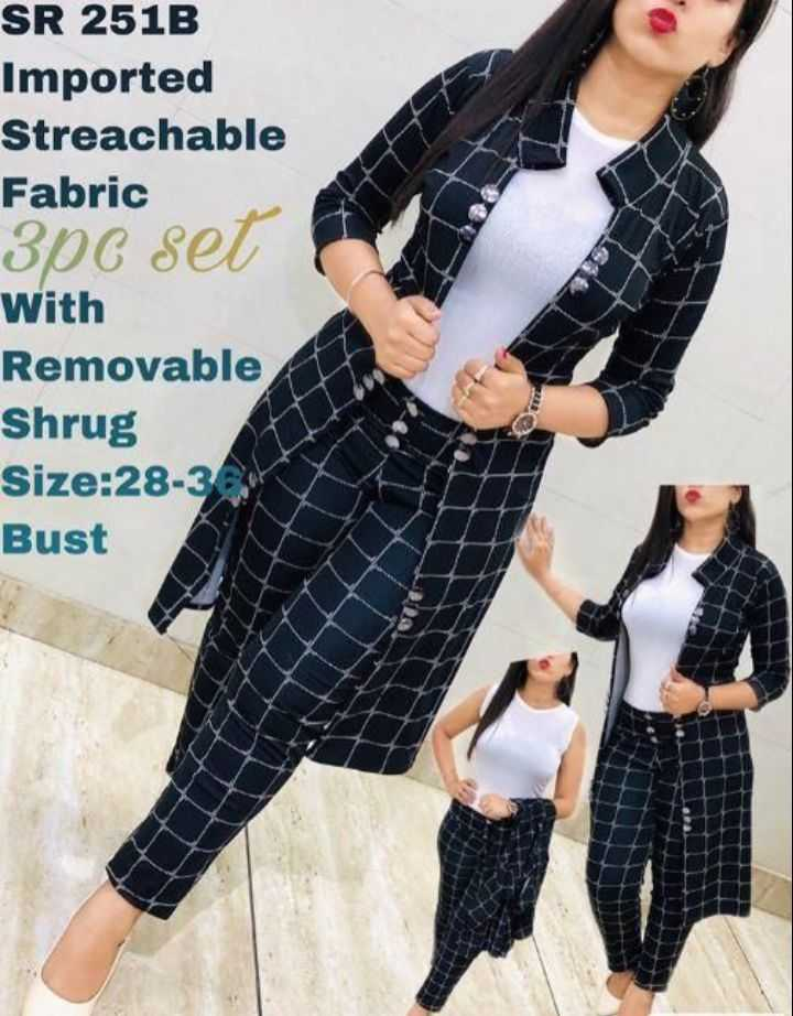 🥻 पार्टी ड्रेस🤵 - SR 251B Imported Streachable Fabric 306 set With Removable Shrug Size : 28 - 3 Bust - ShareChat