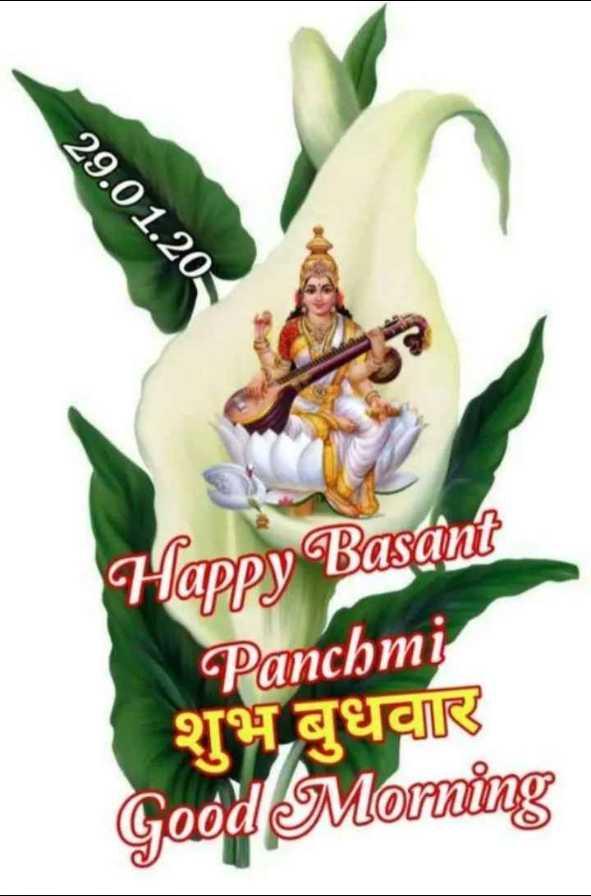 बसंत पंचमी शुभकामनाएं🙏 - 29 . 01 . 20 Happy Basant Panchmi शुभ बुधवार Good Morning - ShareChat