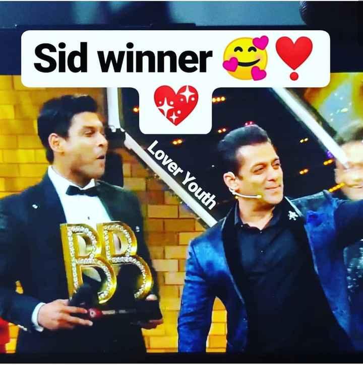 👁बिग बॉस विनर सिद्धार्थ शुक्ला🏆 - Sid winners Lover Youth - ShareChat