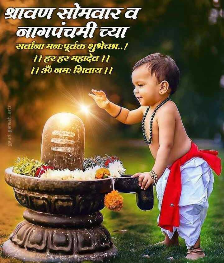 🙏 बोलो ॐ नमःशिवाय - श्रावण सोमवारव नागपंचमीच्या सर्वानामनःपूर्वक शुभेच्छा . . ! ॥ हरहर महादेव । । ॥ ॐ नमः शिवाय । । ase gauri _ ganesh _ arts - ShareChat