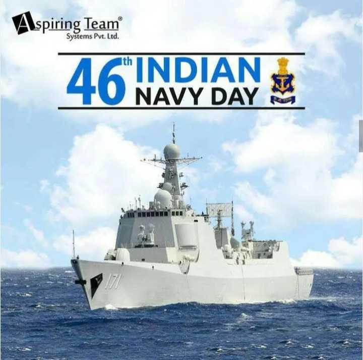 🌊भारतीय नौसेना दिवस - Aspiring Team Systems Pvt . Ltd . 46 INDIAN NAVY DAY Pa - ShareChat