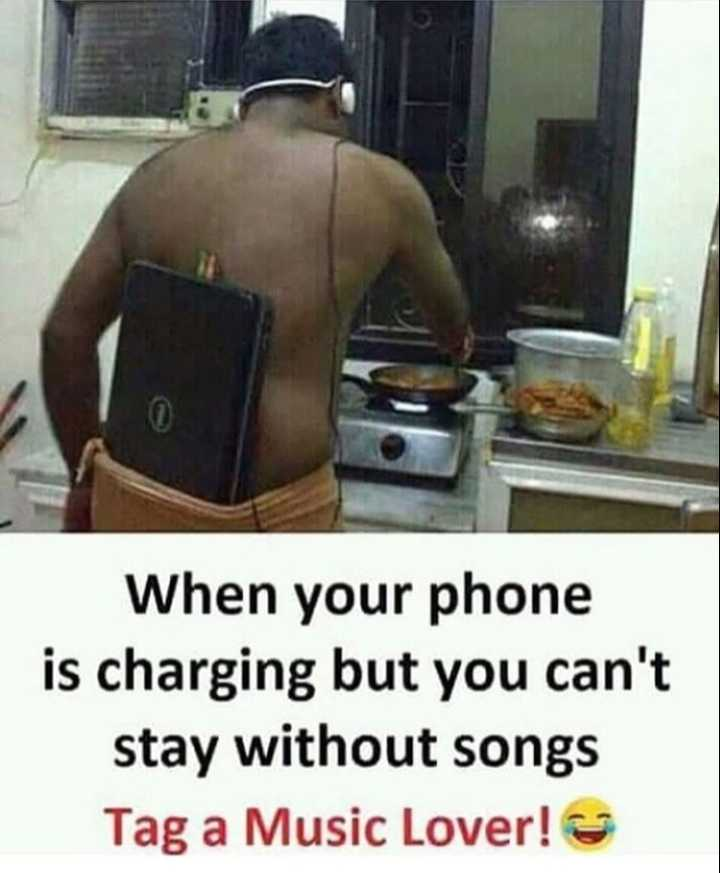 😜 मजाकिया फोटू - When your phone is charging but you can ' t stay without songs Tag a Music Lover ! - ShareChat