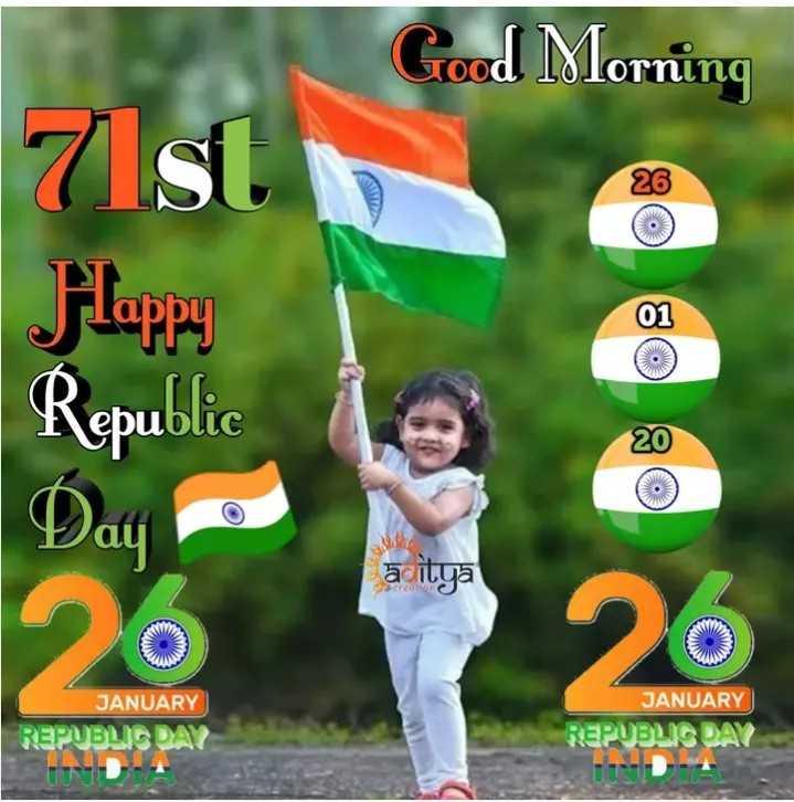 💛मेरा पसंदीदा शहर - Good Morning 26 7 st Flappy Republic 01 20 āditya 20 JANUARY JANUARY REPUBLIC DAY REPUBLIC DAY UNA - ShareChat
