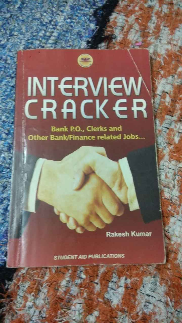 मेरी किताब📕 - INTERVIEW CRACKER Bank PO . , Clerks and Other Bank / Finance related Jobs . . Rakesh Kumar STUDENT AD PUBLICATIONS - ShareChat