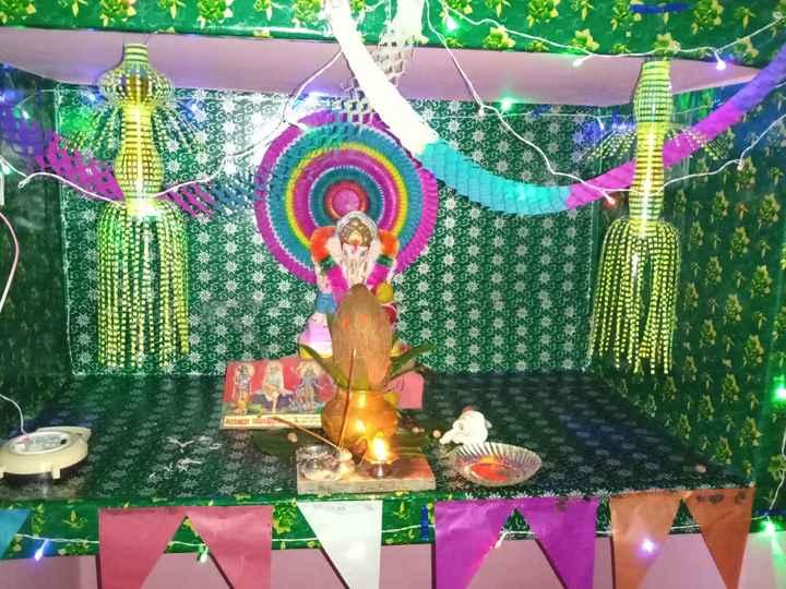 🏠मेरे घर के गणपति बप्पा - INilllhd G BHAN महामाया पब्लिकराला - ShareChat