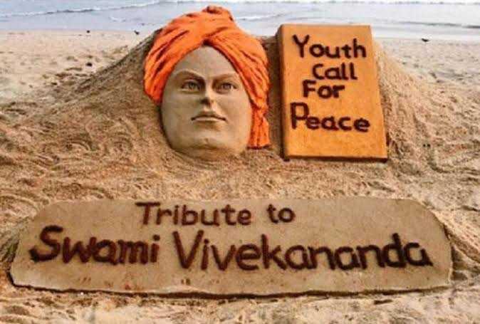 💪🏻राष्ट्रीय युवा दिवस - Youth Call For Peace Tribute to Swami Vivekananda - ShareChat