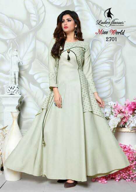 👗 लॉन्ग ड्रेस - Ladies flavaus Miss World 2701 - ShareChat
