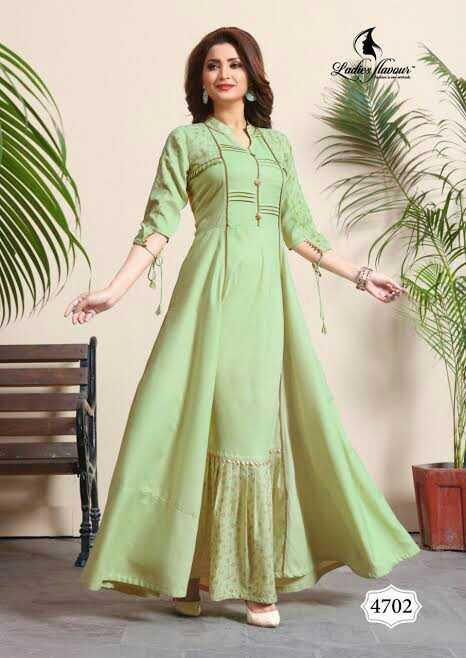 👗 लॉन्ग ड्रेस - Ladie ' s flavou 4702 - ShareChat