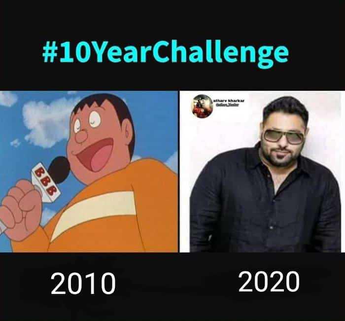 👻व्यंगचित्रे - # 10YearChallenge har har 2010 2020 - ShareChat