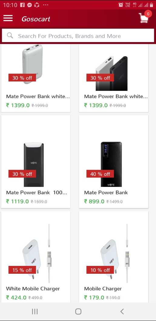 📈व्यापार जगत की खबरें - 10 : 10 10 = Gosocart a Search For Products , Brands and More 30 % off 30 % off Mate Power Bank white . . . 1399 . 0 - 1999 . 0 Mate Power Bank white . . . 1399 . 0 - 1999 . 30 % off 40 % off Mate Power Bank 100 . . . 1119 . 0 1599 . 0 Mate Power Bank 899 . 0 1499 . 0 15 % off 10 % off White Mobile Charger 424 . 0 499 . 0 Mobile Charger * 179 . 0 199 . 0 0 < - ShareChat