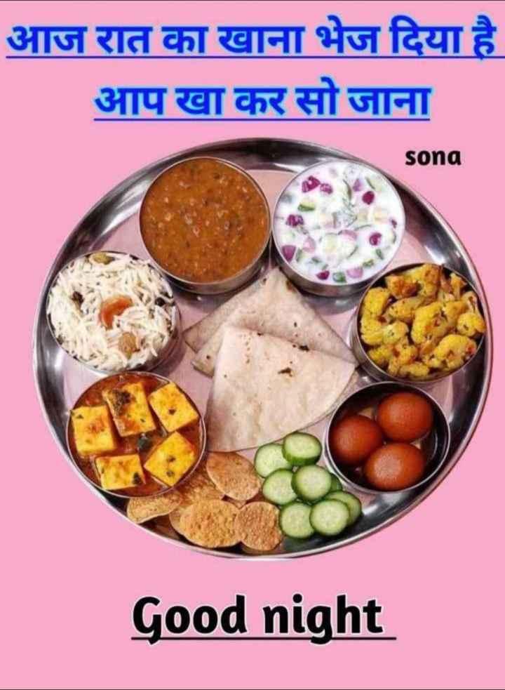 🥗शुद्ध शाकाहारी भोजन - आज रात का खाना भेज दिया है आप खा कर सो जाना sona Good night - ShareChat