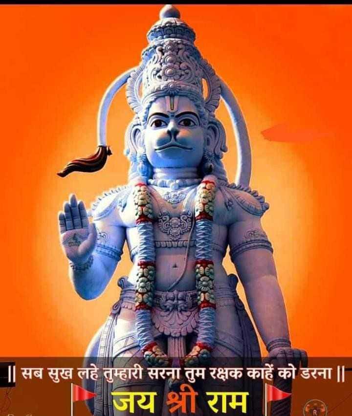 🌷शुभ मंगलवार -     सब सुख लहे तुम्हारी सरना तुम रक्षक काहे को डरना       जय श्री राम - ShareChat