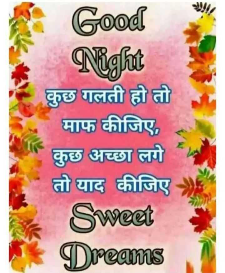 🌗 शुभरात्रि - Good Night कुछ गलती हो तो माफ कीजिए , कुछ अच्छा लगे तो याद कीजिए Sweet Dreams - ShareChat