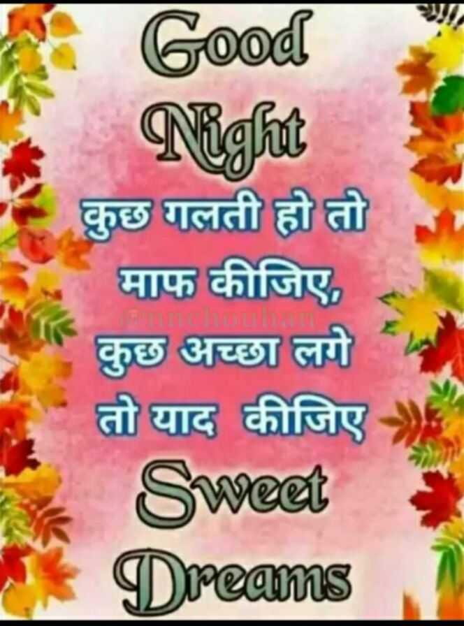 🌗 शुभरात्रि - Good Night कुछ गलती हो तो माफ कीजिए , कुछ अच्छा लगे तो याद कीजिए Sweet Dreams FO - ShareChat
