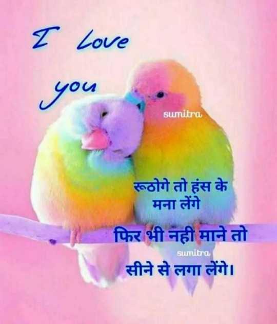 🌗 शुभरात्रि - I Love you sumitra रूठोगे तो हंस के मना लेंगे फिर भी नही माने तो सीने से लगा लेंगे । sumitra - ShareChat