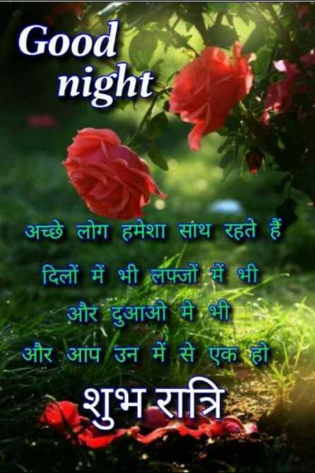 🌗 शुभरात्रि - Good night ' अच्छे लोग हमेशा साथ रहते हैं । ' दिलों में भी लफ्जों में भी । - और दुआओं में भी - और आप उन में से एक हो । शुभ रात्रि - ShareChat