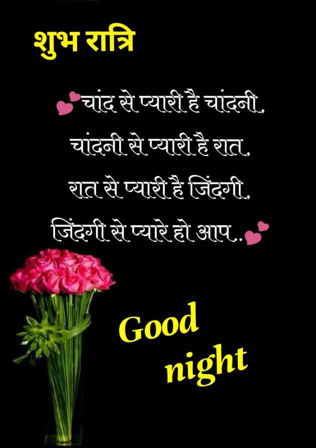 😴शुभ रात्री - शुभ रात्रि चांद से प्यारी है चांदनी . चांदनी से प्यारी है रात . रात से प्यारी है जिंदगी . जिंदगी से प्यारे हो आप . . . Good night - ShareChat