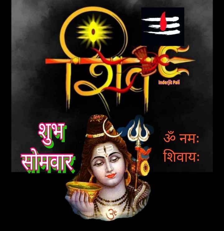 🙏शुभ सोमवार🙏 - शिव Inderjit Pali शुभ ॐ नमः सोमवार - शिवायः - ShareChat