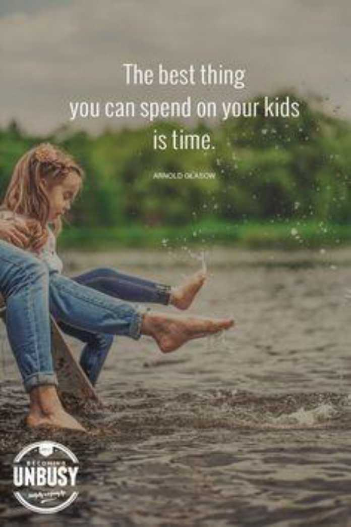 🖋 शेयरचैट Quotes - The best thing you can spend on your kids is time . ARNOLD OBOW UNBUSY - ShareChat