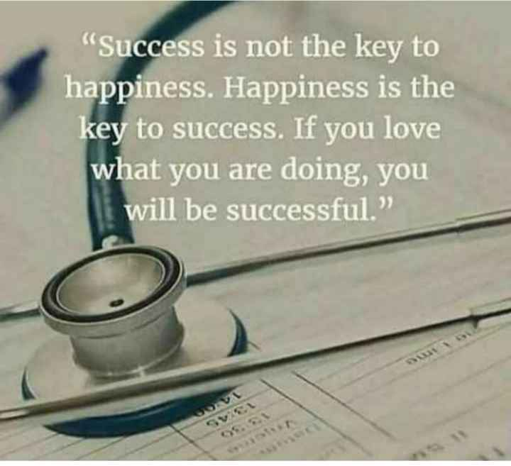 """🖋 शेयरचैट Quotes - Success is not the key to happiness . Happiness is the key to success . If you love what you are doing , you will be successful . """" - ShareChat"""