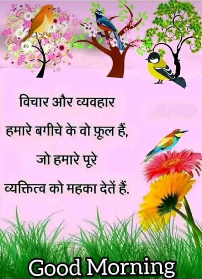 🌞सुप्रभात 🌞 - _ विचार और व्यवहार हमारे बगीचे के वो फूल हैं , जो हमारे पूरे व्यक्तित्व को महका देते हैं . Good Morning - ShareChat