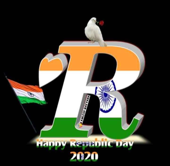 🇮🇳२६ जानेवारी Name art - KAMLESH MAKVANA Happy Republic Day 2020 - ShareChat