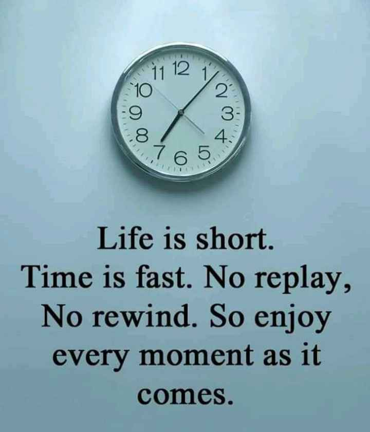 📚উপদেশ - Life is short . Time is fast . No replay , No rewind . So enjoy every moment as it comes . - ShareChat