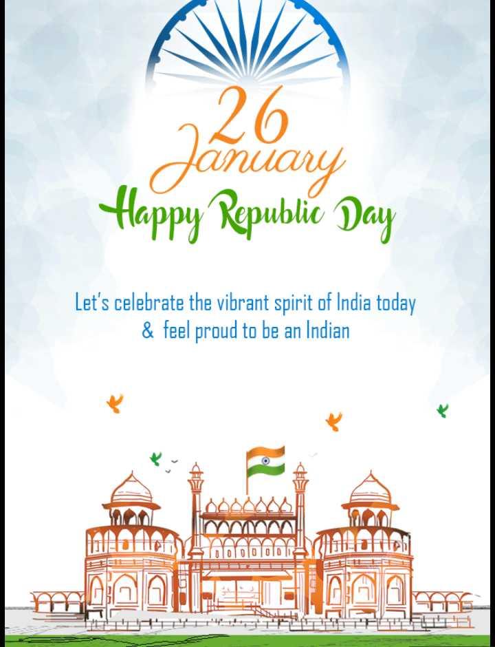 📷 গণতন্ত্ৰ দিৱসৰ ফটো / ভিডিঅ' - 26 January Happy Republic Day Let ' s celebrate the vibrant spirit of India today & feel proud to be an Indian na of AACATS til FODOWEGO Oro YDE RAL - ShareChat