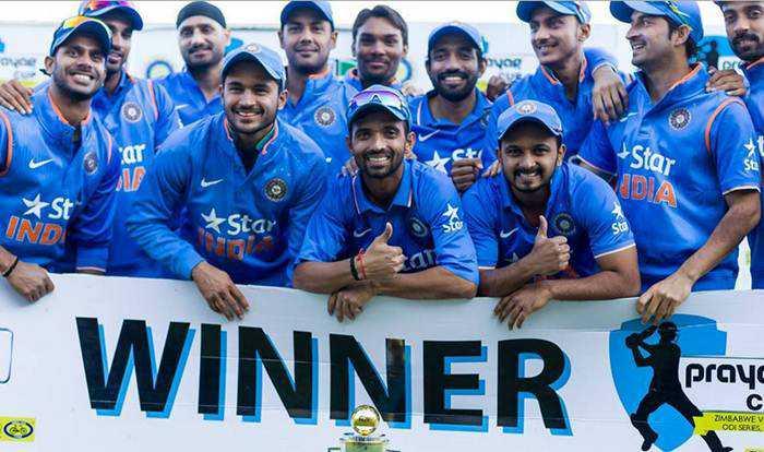🏏টানা ১০ সিরিজ জয় ভারতের 🏏 - ar Star V St INDI Stay WINNERS pray TIMBABWE V OOISERES - ShareChat
