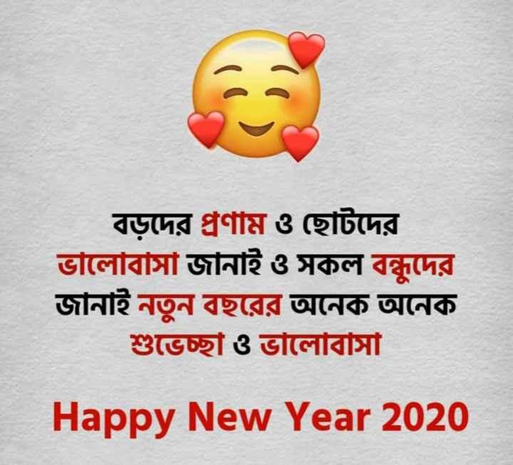 🎊নববর্ষ উদযাপন 🎊 - বড়দের প্রণাম ও ছােটদের ভালােবাসা জানাই ও সকল বন্ধুদের জানাই নতুন বছরের অনেক অনেক শুভেচ্ছা ও ভালােবাসা Happy New Year 2020 - ShareChat