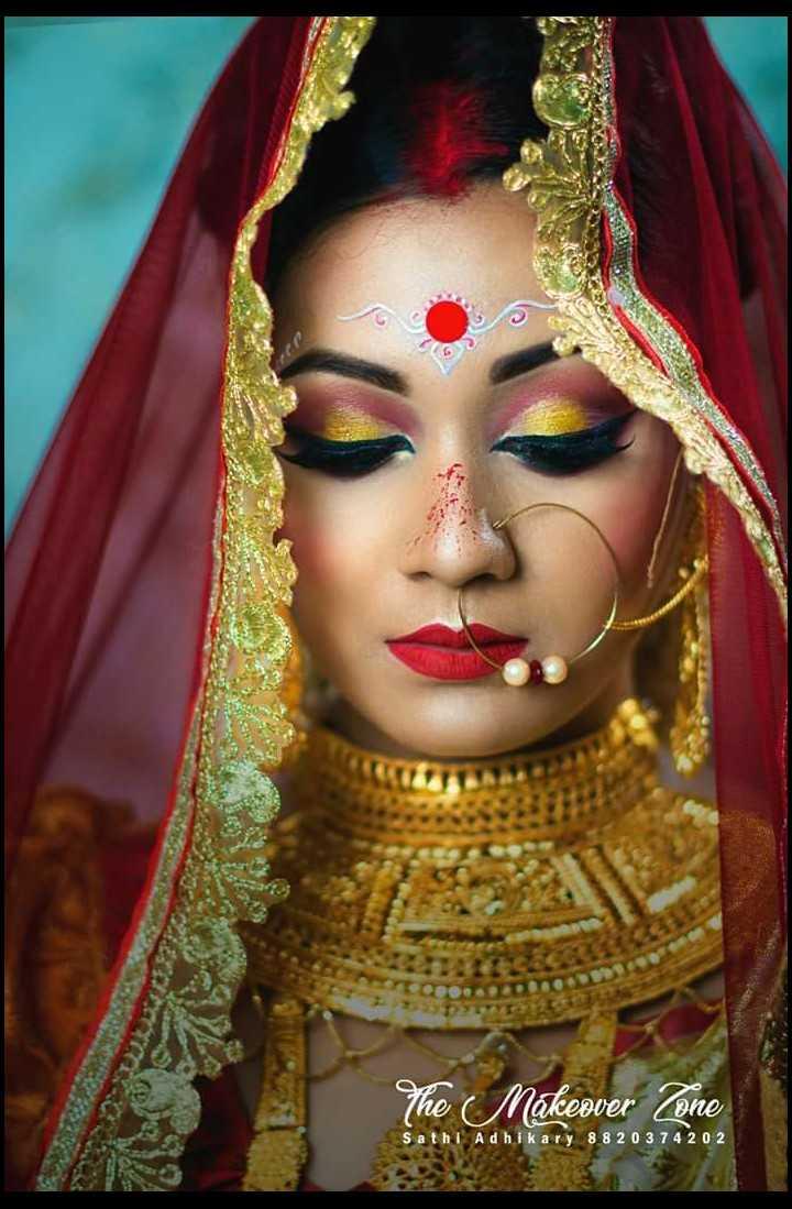 💄মেকআপ - The Makeover Zone Sathi Adhikary 88 20 3 7 4 2 0 2 - ShareChat