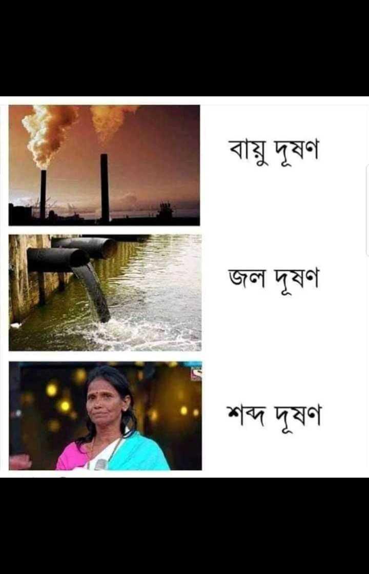 রানু মন্ডল ট্রল🤣 - বায়ু দূষণ । জল দূষণ : শব্দ দূষণ শব্দ দূষণ - ShareChat