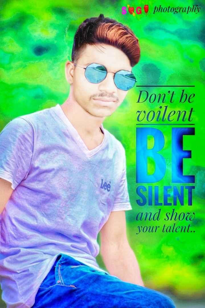 💑রোমান্টিক ছবি - G photography Don ' t be voilent SILENT and show your talent . . - ShareChat