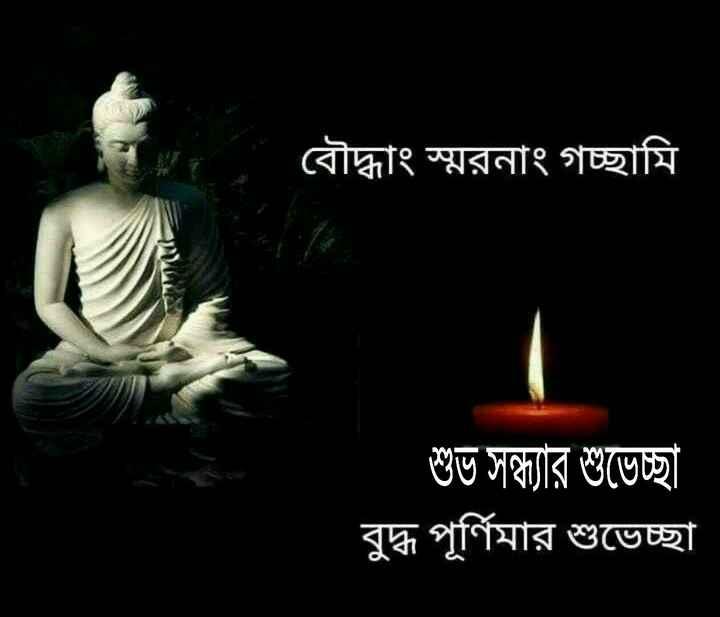 শুভ বুদ্ধ পূর্ণিমা - বৌদ্ধাং স্মরনাং গচ্ছামি শুভ সন্ধ্যার শুভেচ্ছা বুদ্ধ পূর্ণিমার শুভেচ্ছা - ShareChat