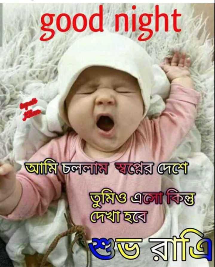 🌑শুভ রাত্রি - good night আমি চললজ স্থাপ্পর জলে তুমি কিন্তু দেখা হবে শুভ রাত্রি - ShareChat