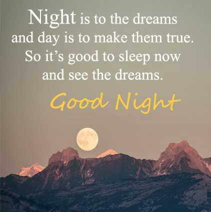 🌑শুভ রাত্রি - Night is to the dreams and day is to make them true . So it ' s good to sleep now and see the dreams . Good Night - ShareChat