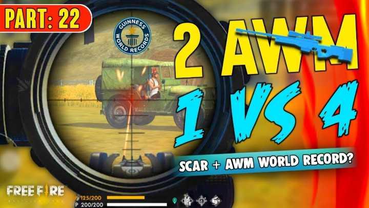 🌑শুভ রাত্রি - PART : 22 WINNE SCAR + AWM WORLD RECORD ? FREE E RE P 125 / 200 P 200 / 200 - ShareChat